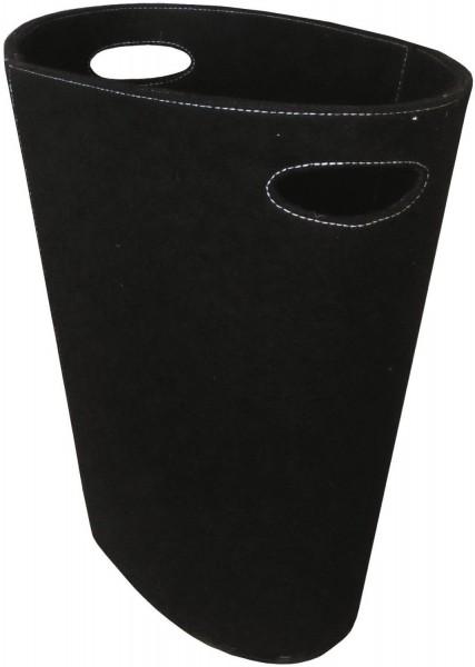 Filzkorb Oval in schwarz mit Grifflöchern
