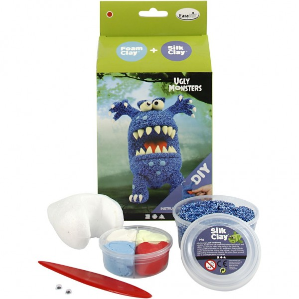 Foam Clay® + Silk Clay® Ugly Monster blau