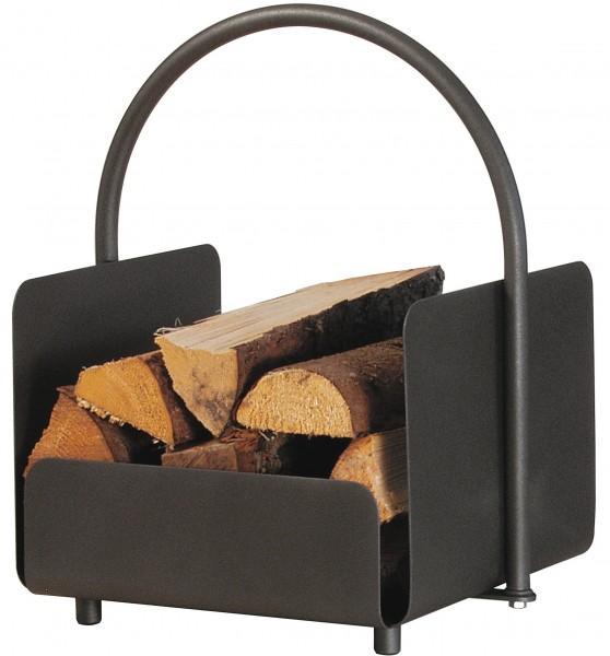 Holzkorb - anthrazit beschichtet