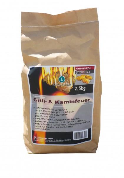 Anzünder für Kaminfeuer & Grill / 2,5 Kg (ca. 200 Anzünder)