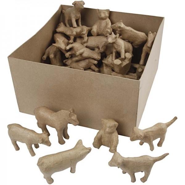 5 Stück Bauernhof Mini-Tiere zum Überziehen und Modellieren