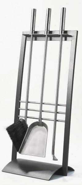 Kaminbesteck (3-teilig) anthrazit beschichtet, Bestecke & Griffe aus Edelstahl