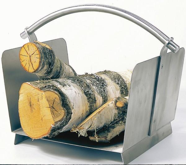 Holzkorb & Griff Edelstahl matt gebürstet