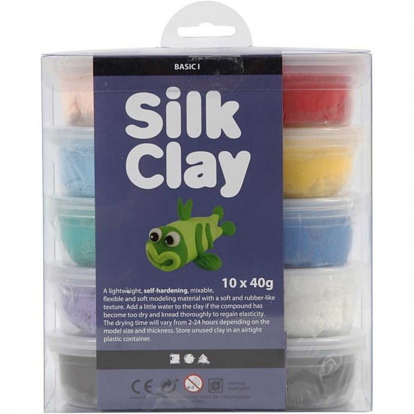 Silk Clay® Gummischleim 10er Basic-Set 1 / 10 x 40g Dosen