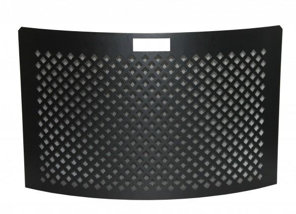 Funkenschutzgitter schwarz beschichtet