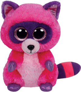 Beanie Boos Glubschi - Roxie, Waschbär pink/lila (ca.15cm)