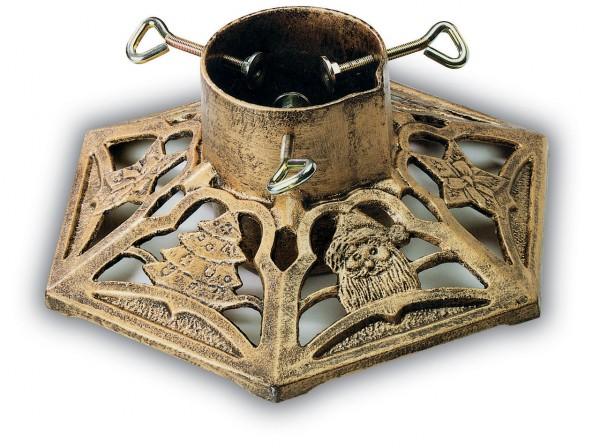 Christbaumständer MOD.9525 aus Gußeisen bronce