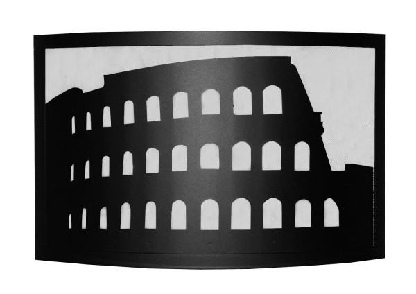 Funkenschutzgitter Modell Colosseo, schwarz beschichtet,
