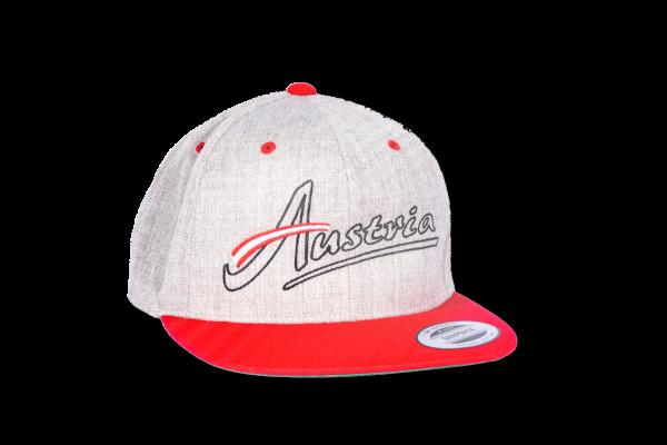 Koasastyle Austria Cap / Flexfit Classic Snapback Grau-rot