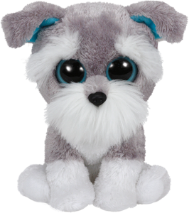 Beanie Boos Glubschi - Whiskers, Schnauzer grau (ca.15cm)