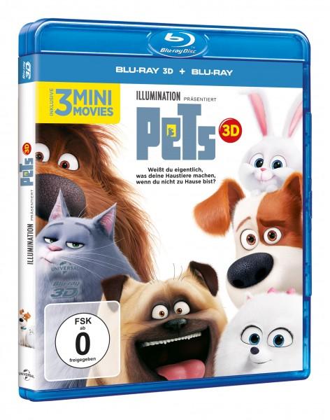 Pets 3D (Blu-ray 3D + Blu-ray)