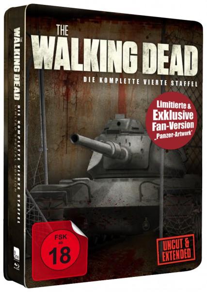 The Walking Dead - Die komplette vierte Staffel - Steelbook - exklusive Fan Edition Panzer Design