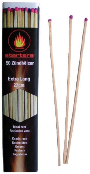 Kamin- und Ofenzündhölzer 50 Stück/Packung Extra Lang 27 cm
