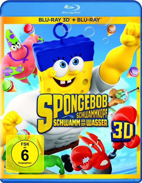 SpongeBob Schwammkopf - Schwamm aus dem Wasser (Blu-ray 3D, 2 Discs)