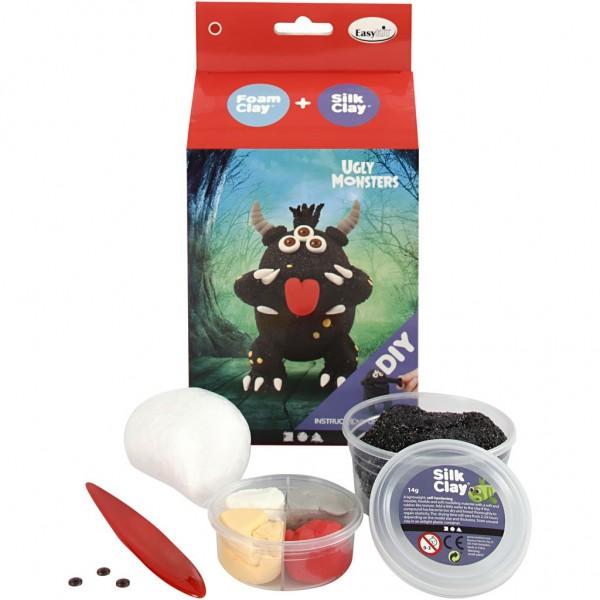Foam Clay® + Silk Clay® Ugly Monster schwarz