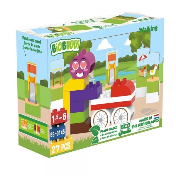 BioBuddi - Spazieren   27 Teile (Bausteine aus Zuckerrohr)
