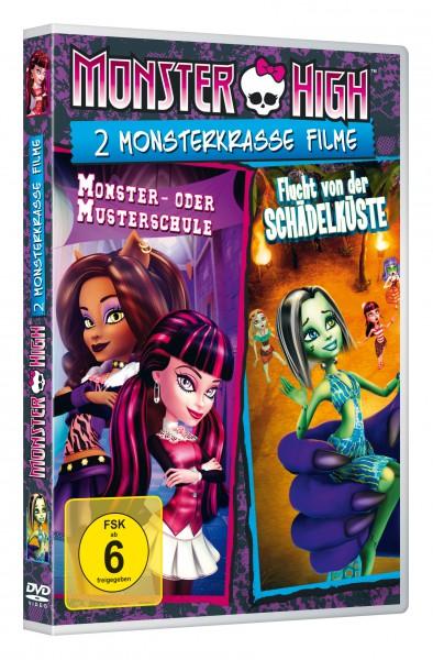 Monster High - 2 monsterkrasse Filme: Monster- oder Musterschule & Flucht von der Schädelküste (DVD)