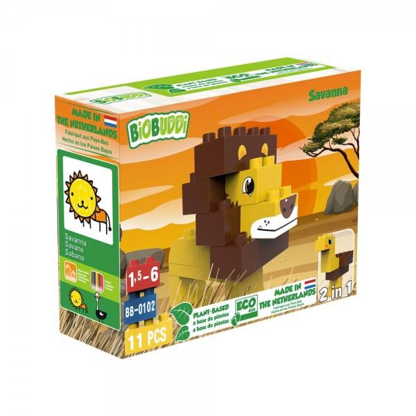 BioBuddi - Löwe | 11 Teile (Bausteine aus Zuckerrohr)