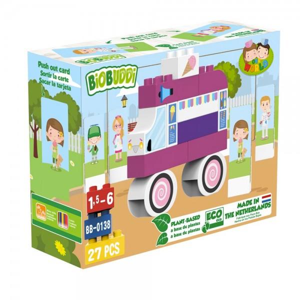 BioBuddi - Eis Wagen | 27 Teile (Bausteine aus Zuckerrohr)