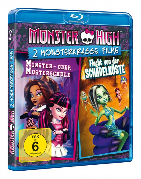 Monster High - 2 monsterkrasse Filme: Monster- oder Musterschule & Flucht von der Schädelküste (Blu-ray)
