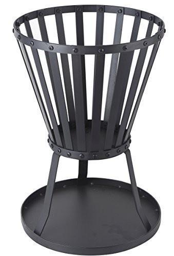 Feuerkorb, Feuerstelle aus Metall - schwarz beschichtet Ø 35 H 50 cm