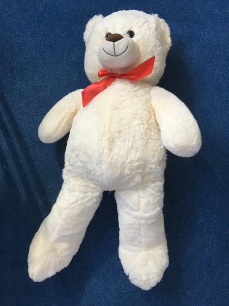 XXL Teddybär Plüschtier / Kuscheltier 100cm in Braun   Weiß   Hellbraun