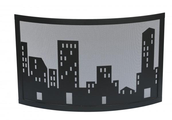 Funkenschutzgitter Modell Metropol, schwarz beschichtet