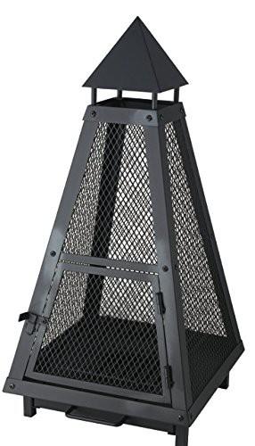 Feuerkorb / Laterne / Pyramide schwarz beschichtet