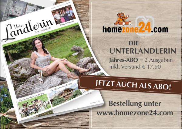 """Die Unterlandlerin - """"Das Magazin"""" Jahres-ABO = 2 Ausgaben inkl. Versand"""