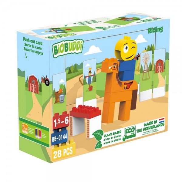 BioBuddi - Reiten   28 Teile (Bausteine aus Zuckerrohr)