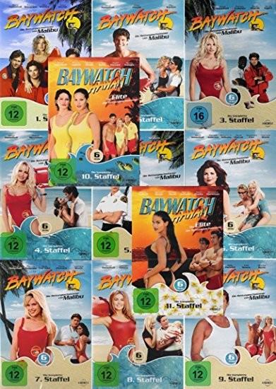 Baywatch - Die komplette TV-Serie Staffel 1-11 inkl. Baywatch Hawaii mit 66 DVD´s