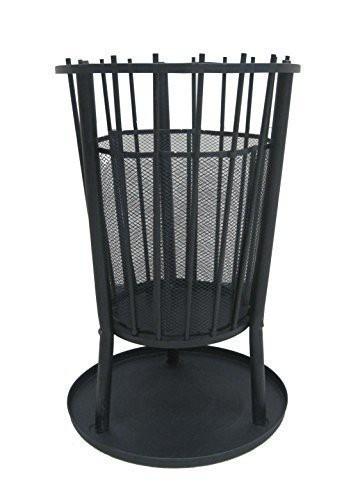 Feuerkorb, Feuerstelle aus Metall - schwarz beschichtet Ø 42,5 H 65 cm
