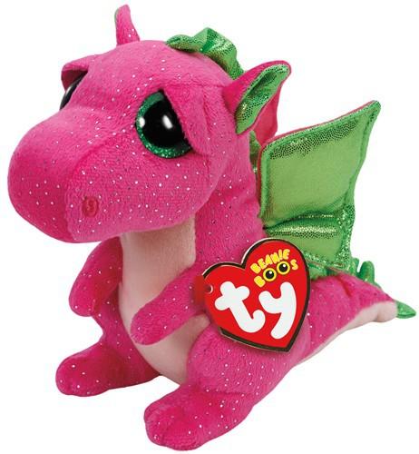 Beanie Boos Glubschi - Darla, Drache pink (ca.15cm)