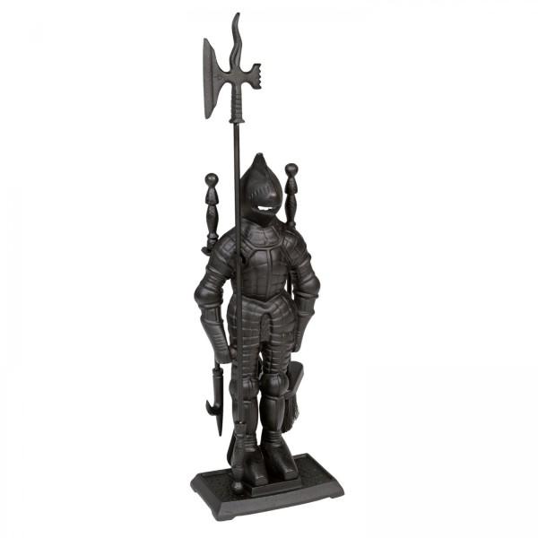 Kaminbesteck (3-teilig) Ritter aus Gusseisen in 3 Farben