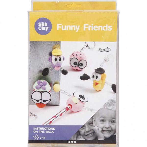 Silk Clay® Modelliermasse Gummischleim Funny Friends Basel-Set