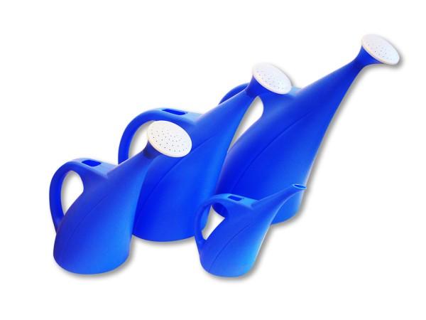 Gießkanne aus Kunststoff in Blau inkl. Brause in 1 - 9 Liter