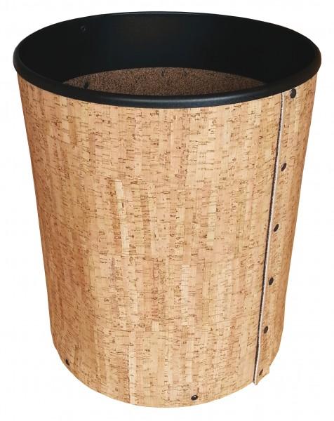 Holzkorb aus Naturkork inkl. 4 Rollen Ø 38,5 cm