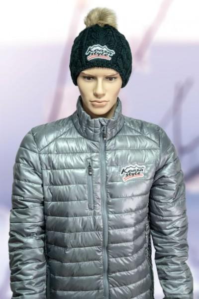"Herren Winterjacke Modell ""Kitzbühel"" grau (bestickter Österreich Adler)"