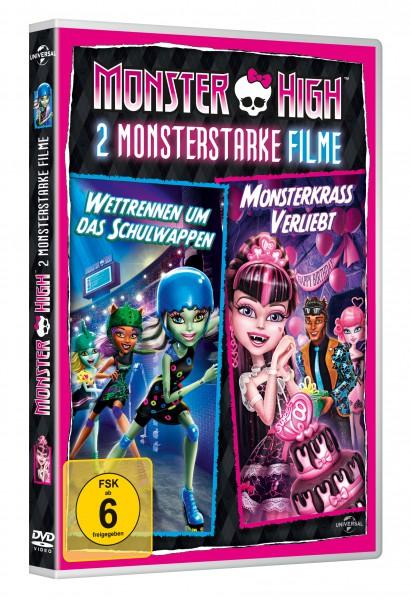 Monster High - 2 monsterstarke Filme: Wettrennen um das Schulwappen & Monsterkrass verliebt (DVD)