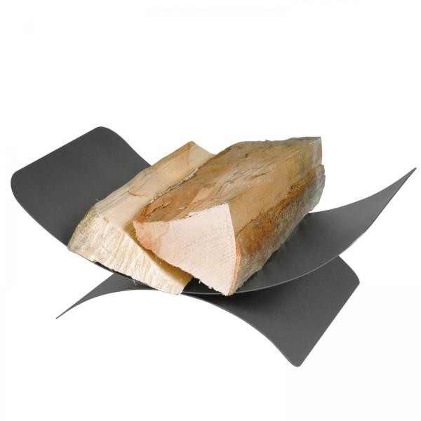 Holzkorb Schale anthrazit beschichtet