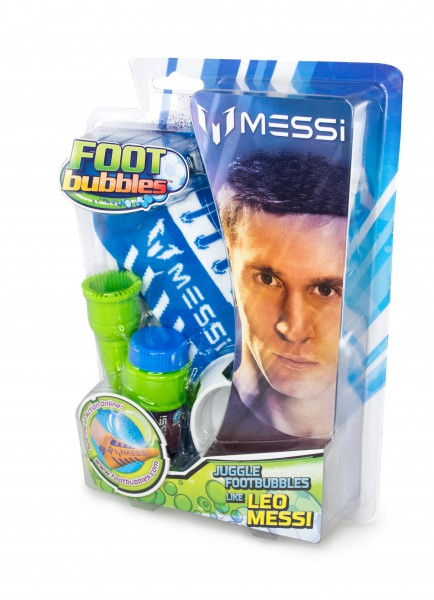 Messi Footbubbles Starter Pack in Blau