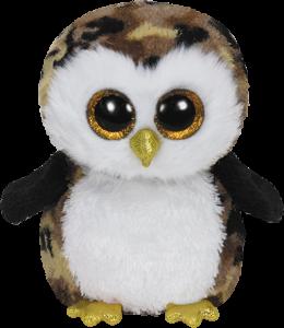 Beanie Boos Glubschi - Owliver, Eule schwarz/braun (ca.15cm)