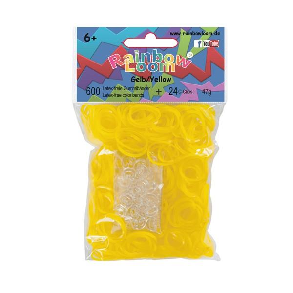 Rainbow Loom® 600 Stück Gummibänder Gelb