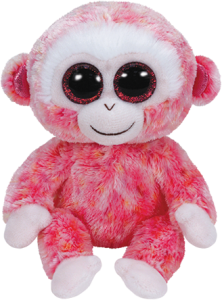 Beanie Boos Glubschi - Ruby, Affe rot/weiß (ca.15cm)