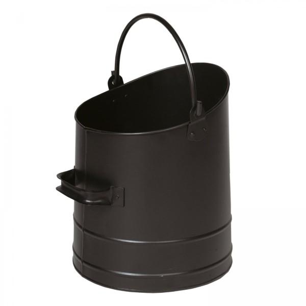 Kohlekorb / Pelletskorb schwarz beschichtet
