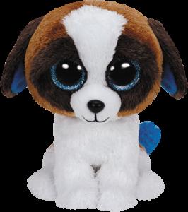 Beanie Boos Glubschi - Duke, Hund weiß/braun (ca.15cm)